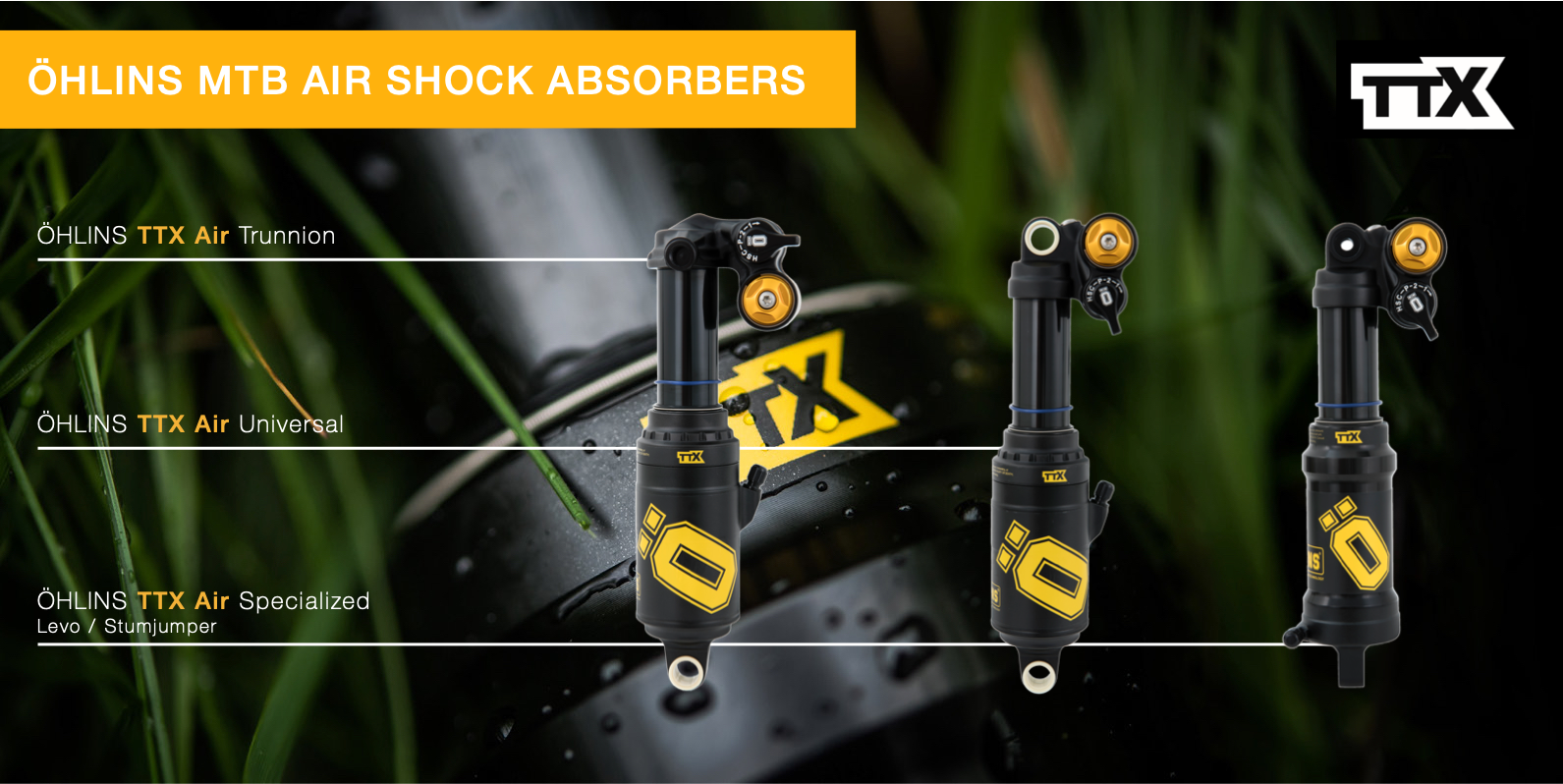 Ohlins TTX Air product range